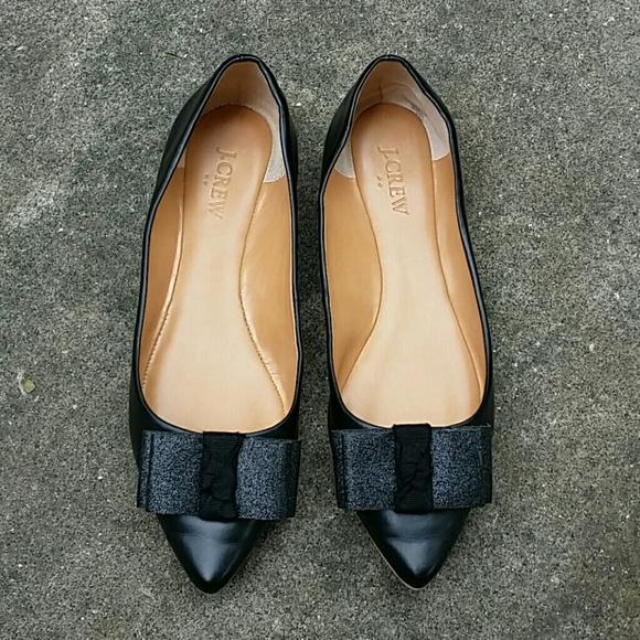 796fbfee70d9 J. Crew Shoes - J. Crew Emery glitter bow flats size 8